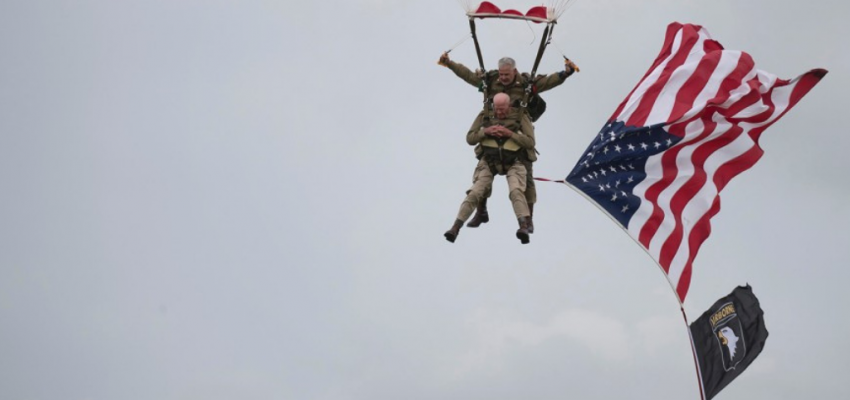 97-year-old WWII veteran parachutes over Normandy
